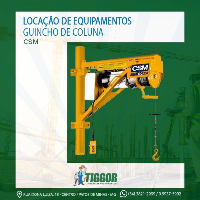 Guincho - Promoções - Tiggor Locação de Equipamentos - Patos de Minas - MG