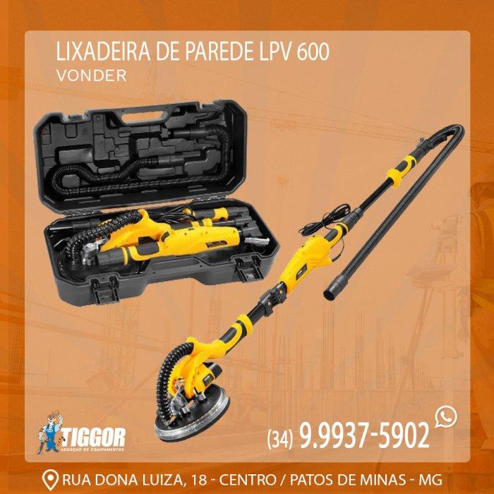 Lixadeira de Parede - Promoções - Tiggor Locação de Equipamentos - Patos de Minas - MG