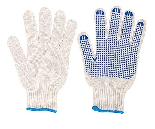 Luva tricotada em 3 fios de algodão e poliéster com pigmentos em PVC Delta Plus TP16909 - Produtos - Tiggor Locação de Equipamentos - Patos de Minas - MG